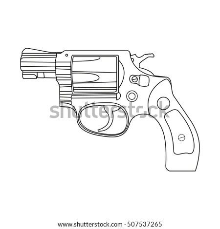Vector Gun Isometric Line Drawing Stock Vector 625571594