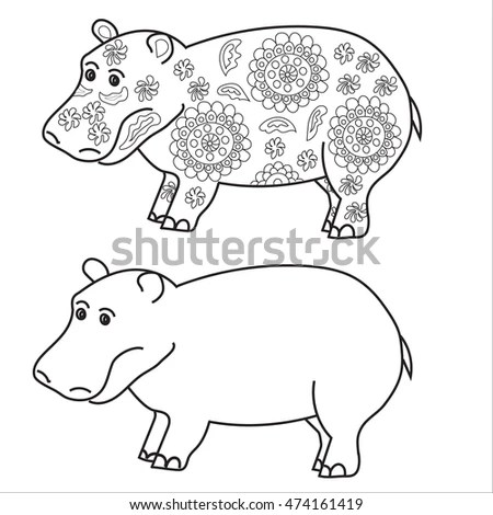 Sketch Pig Hand Drawn Vector Illustration Stock Vector