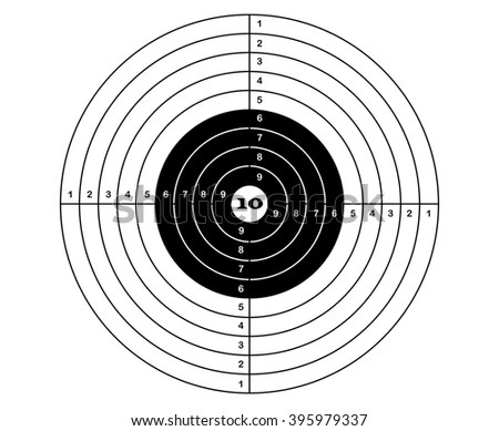 Target Rifle Shooting Vector Sports Stock Vector 395979337