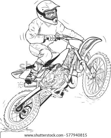 Mini Trials Motorcycle
