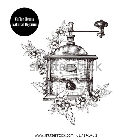Coffee-mill Stock Images, Royalty-Free Images & Vectors