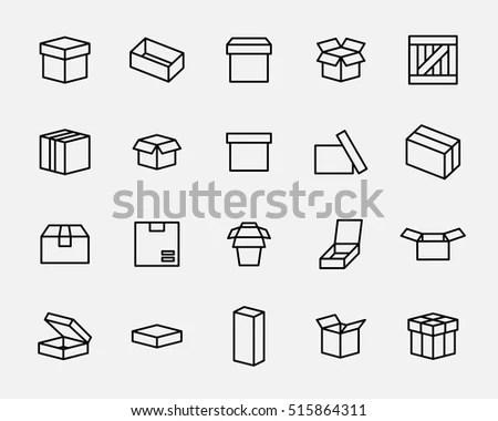 Box Icon Logo Modern Line Style Stock Vector 517561594