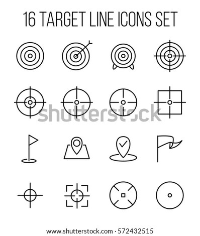 Set Target Icons Modern Thin Line Stock Vector 572432104