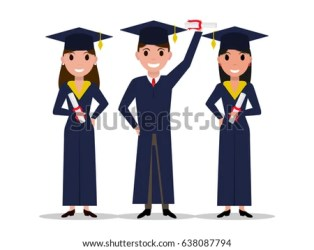cartoon boy student vector graduate shutterstock received graduation degree