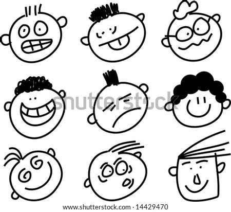 Happy Face Cartoon Sketches Smiley Face Drawing At