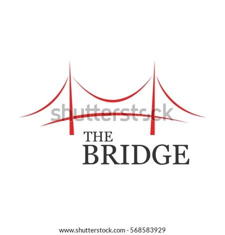 Modern Bridge Logo Design Element Stock Vector 568583917
