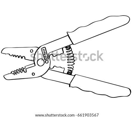 Vector Wire Strippers Cartoon Stock Vector 661903567