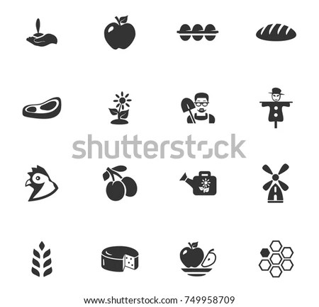 Farming Icons Stock Images, Royalty-Free Images & Vectors