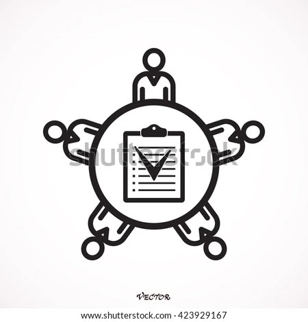 Business Meeting Planning Survey Agenda Selection Stock