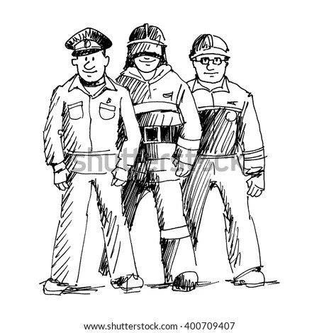 Rescue Workers Police Firefighters Emergency Situations