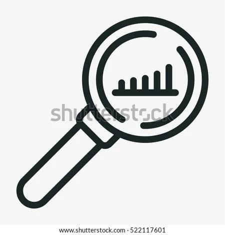 Analysis Minimalistic Flat Line Outline Stroke Stock