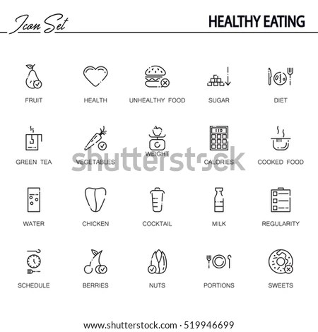 Fruit Flat Icon Single High Quality Stock Vector 529679560
