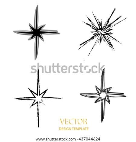 Vector Star Retro Star Star Background Stock Vector