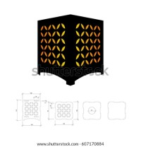 Cut Out Template Lamp Candle Holder Stock Vector 607170884 ...