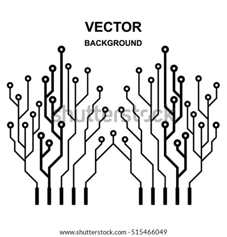 Vector Icon Logo Printed Circuit Board Stock Vector