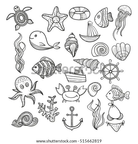 Marine-life Stock Images, Royalty-Free Images & Vectors