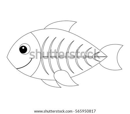 X Ray Fish Coloring Page Book Printable
