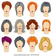 womens haircut stock royalty-free