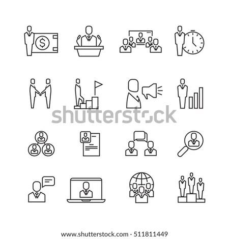 Business Icons Set Symbols Web User Stock Vector 406220860