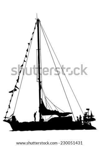 Sirius Vector Illustration Early Transatlantic Steamship