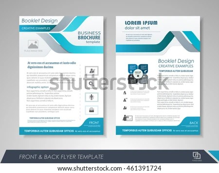 Front Back Page Brochure Template Flyer Stock Photo Photo Vector