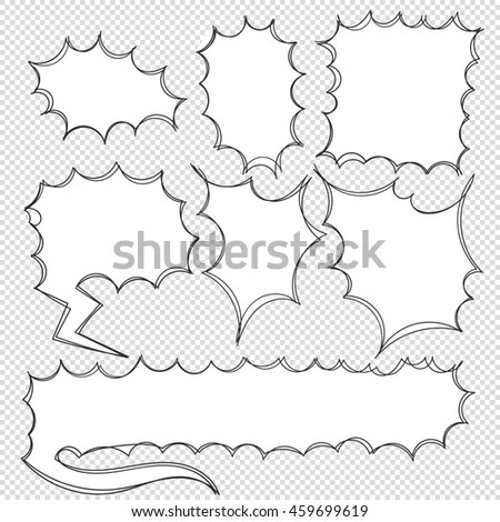 Vector Hand Drawn Doodle Round Speech Stock Vector