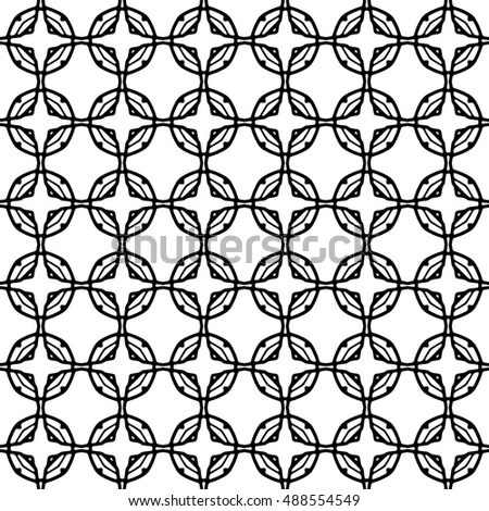 Seamless Geometric Pattern Interlocking Rounded Squares