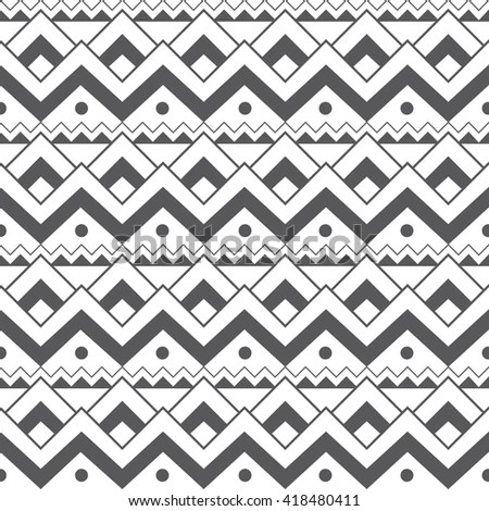 Abstract Seamless Wallpaper Ethnic Patterns Stock Vector