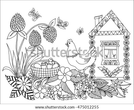 Koala On Tree Coloring Page Animals Stock Vector 479958520