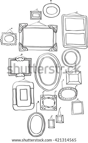 Standard Furniture Symbols Used Architecture Plans Stock