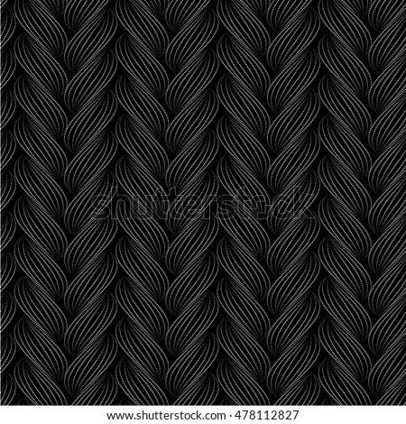 Vector Seamless Pattern Braids Texture Yarn Stock Vector