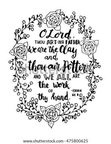Bible Verse Calligraphy Pen Art Sketch Coloring Page