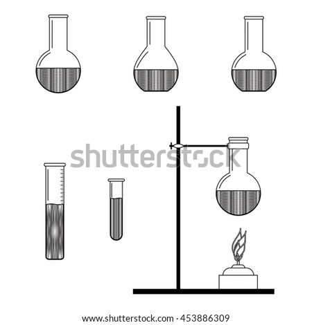 Chemical Science Equipment Vector Stock Vector 53805094