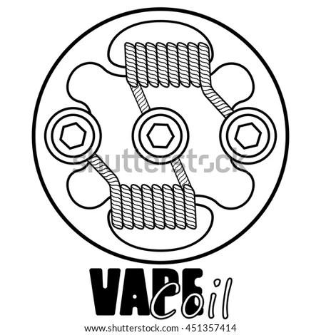 Vape Coil Vector Illustration Vape Vape Stock Vector