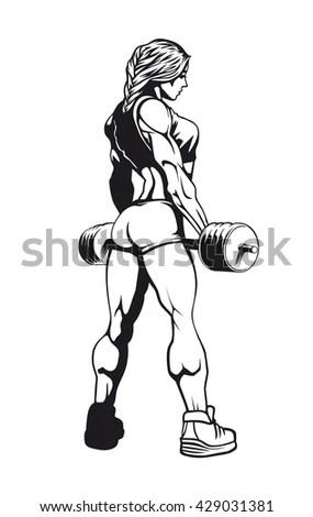 Female Bodybuilding Stock Vectors & Vector Clip Art