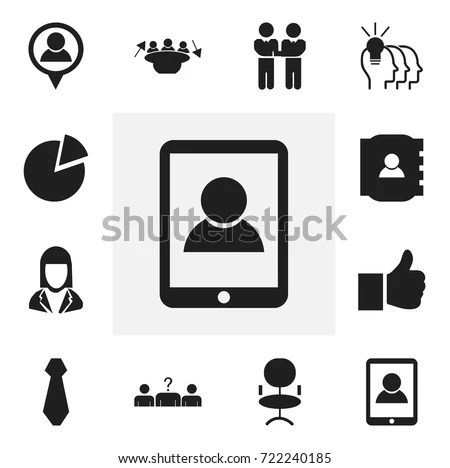 Set 16 Editable Building Icons Includes Stock Illustration