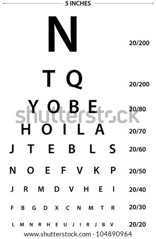 Sign Eye Test Use By Doctors Stock Photo (Royalty Free