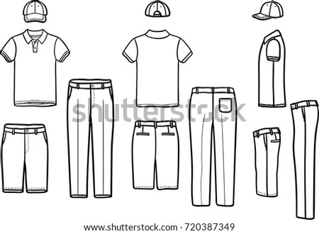 Golf Shirt Template Stock Images, Royalty-Free Images