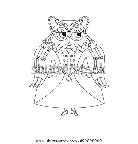 Xmas Owl Merry Christmas Cute Boho Stock Vector 533062753