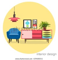Interior Design Logo Sticker Vector Furniture Stock Vector ...