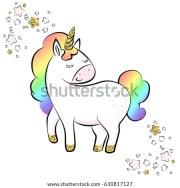 beautiful unicorn rainbow hair