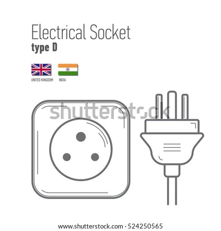 Switches Sockets Set Type F Ac Stock Vector 514869289