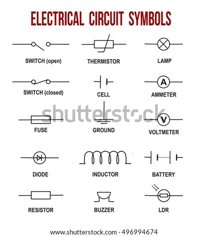1000v Motor Wiring Diagram Electrical Circuit Symbols On White Background Stock