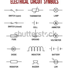 Shunt Resistor Wiring Diagram Basic Electrical Diagrams Circuit Symbols On White Background Stock Vector 496994674 - Shutterstock
