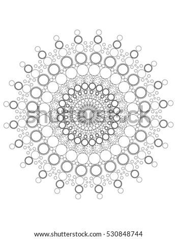 Mandala Dots Coloring Page Stock Illustration 530848744