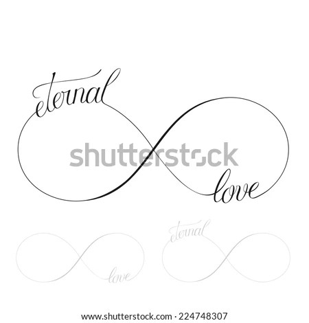 Eternal Love Icon Valentines Day Vector Stock Vector