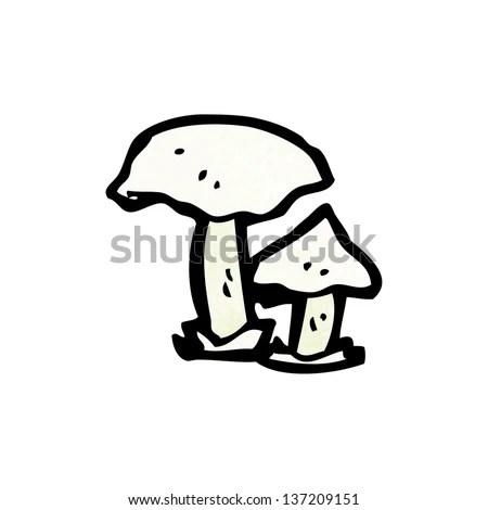 Toadstool Mushroom Drawing Stock Vector 48321184