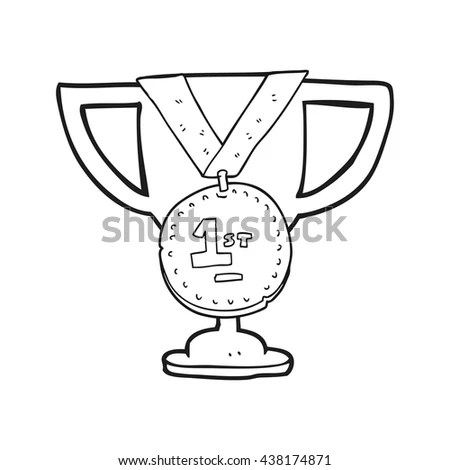 Retro Cartoon Trophy Stock Illustration 149326634