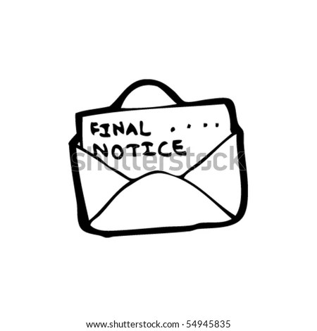 Final Notice Letter Cartoon Stock Vector 54948514
