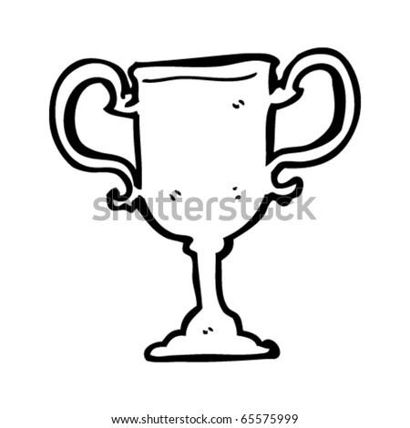 Retro Cartoon Trophy Stock Illustration 149326634